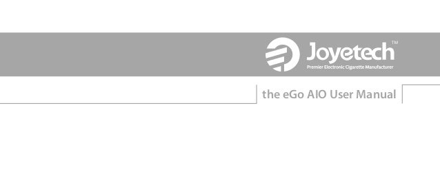 the eGo AIO User Manual