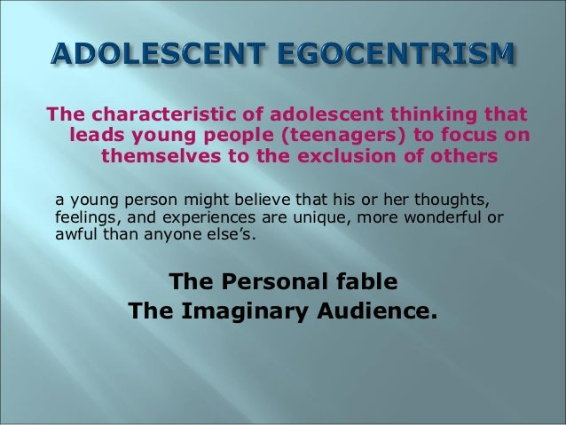 egocentric personality and relationships