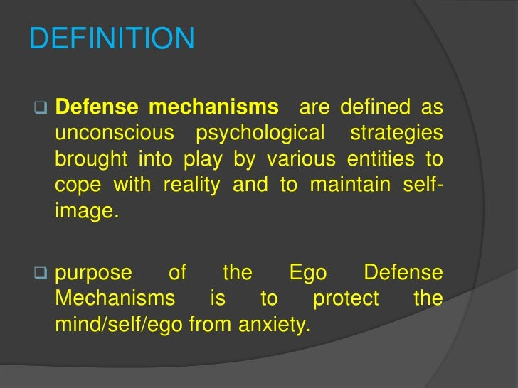 Ego Defense Mechanisms