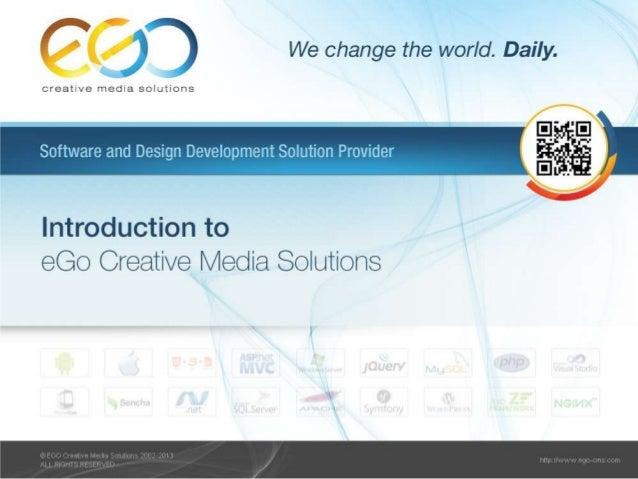 eGo Creative Media SolutionseGo Creative Media Solutions a Ukrainian software development company.We're a full-service sof...