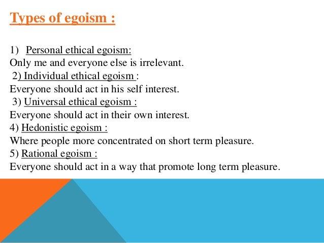 Rational egoist