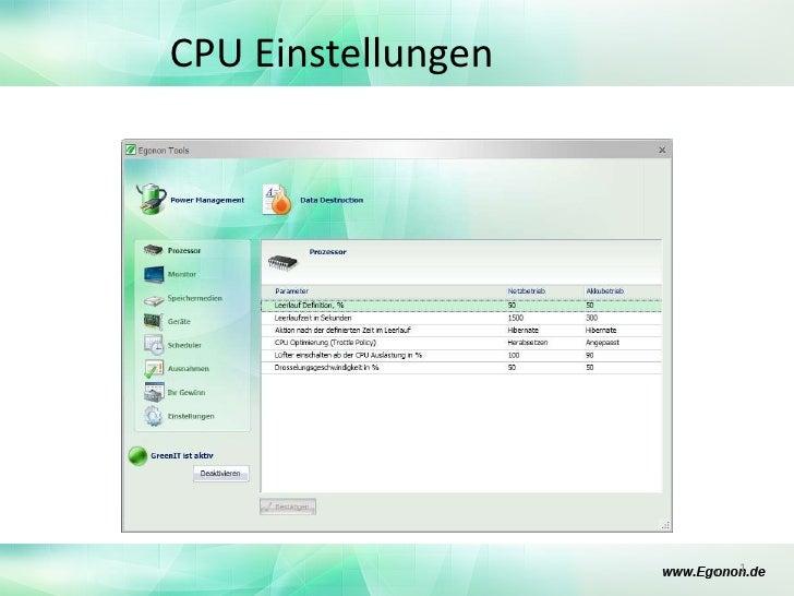 CPU Einstellungen<br />1<br />