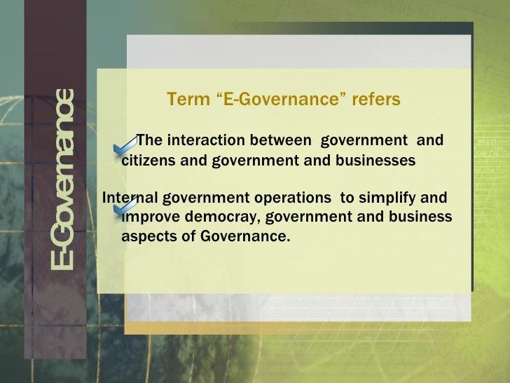 e governance, wiring diagram