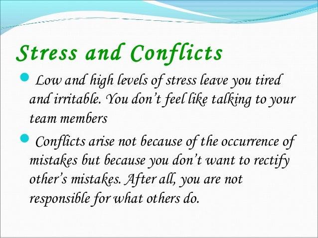 Ego, stress & conflict management