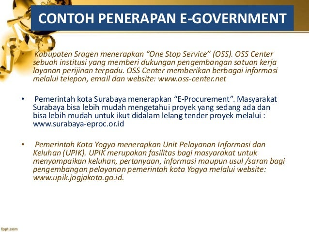 E Government Dalam Pelayanan Publik