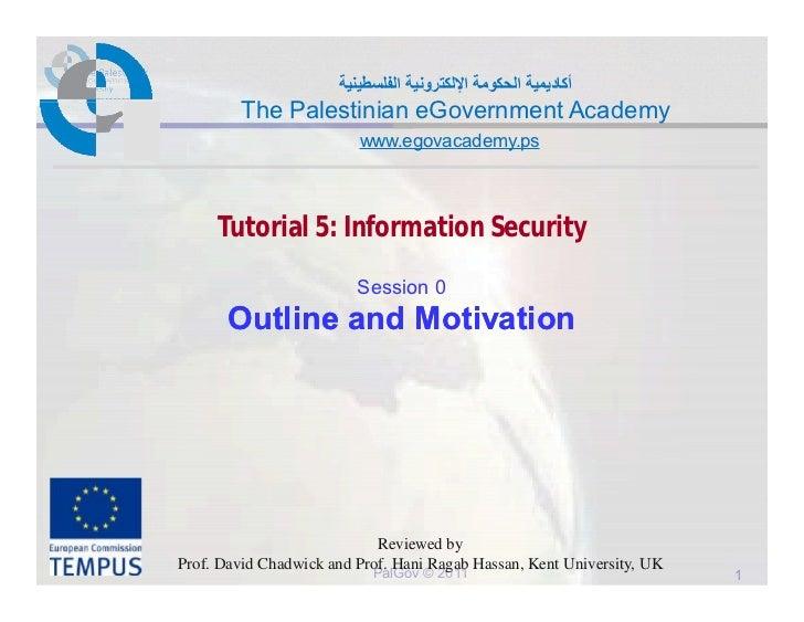أﻛﺎدﯾﻣﯾﺔ اﻟﺣﻛوﻣﺔ اﻹﻟﻛﺗروﻧﯾﺔ اﻟﻔﻠﺳطﯾﻧﯾﺔ        The Palestinian eGovernment Academy                         www.egovacadem...