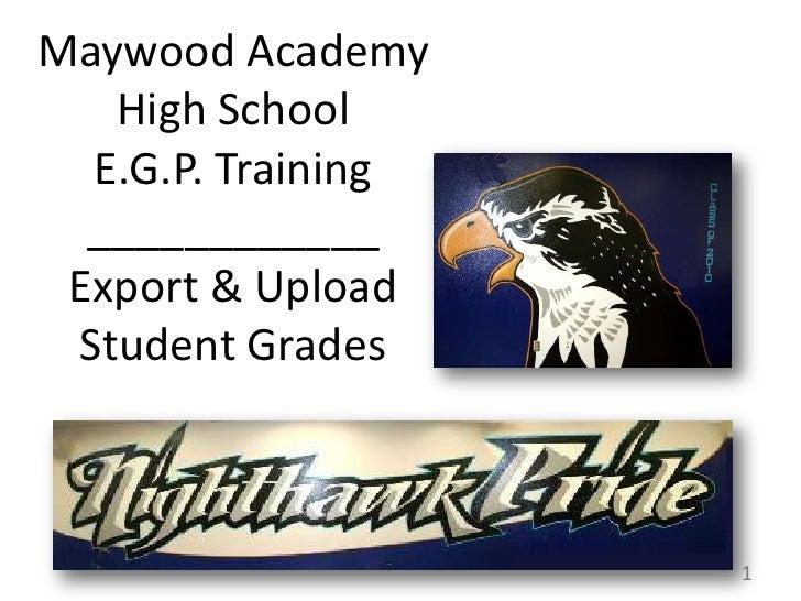 Easy Grade Pro Internet Export & Website Upload