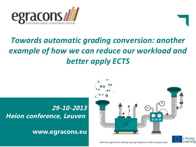 Towards automatic grading conversion: another example of how we can reduce our workload and better apply ECTS  29-10-2013 ...