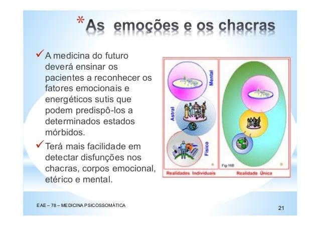 A medicina do futuro deverá ensinar os pacientes a reconhecer os fatores emocionais e energéticos sutis que podem predispô...