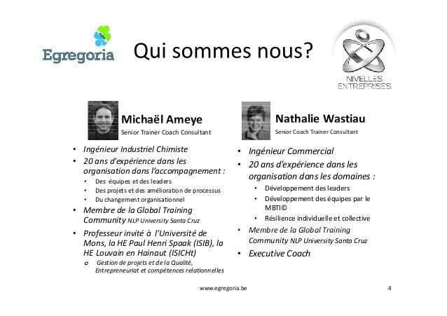 Michaël Ameye Nathalie WastiauMichaël Ameye Senior Trainer Coach Consultant • Ingénieur Industriel Chimiste • 20 ans d'exp...