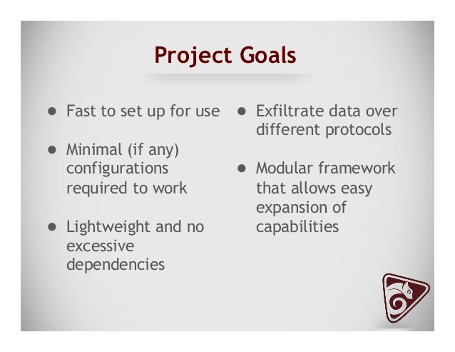 Project Goals ● Store all data/files transferred for proof of transfer ○ Stored in a specific directory ○ Time and date...