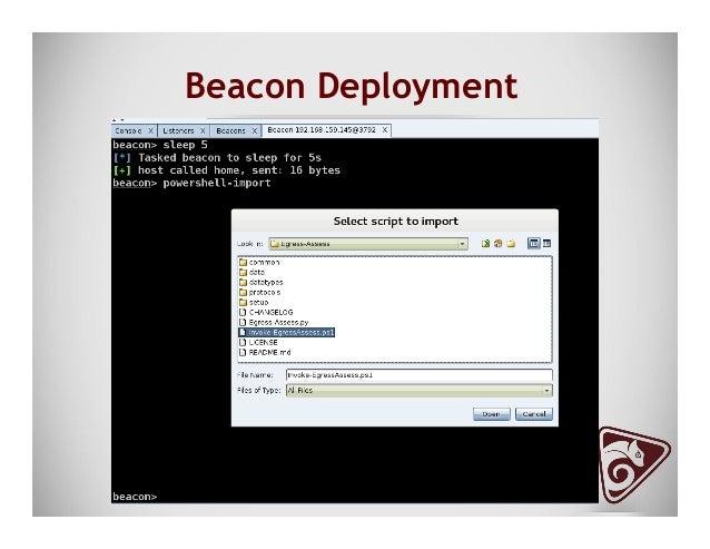 Beacon HTTP SSN Receive ● ./Egress-Assess.py --server http ● Data saved in Egress-Assess/data/(timestamp)web_data.txt