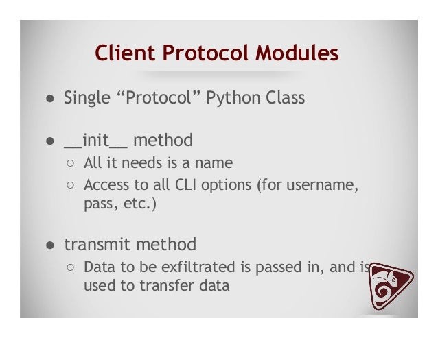 Datatype Modules ● Modules which create data to be exfiltrated by the framework ● Currently there are two generators ○ ...