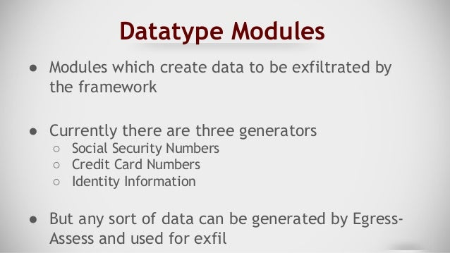 What Goes In Must Come Out: Egress-Assess and Data Exfiltration