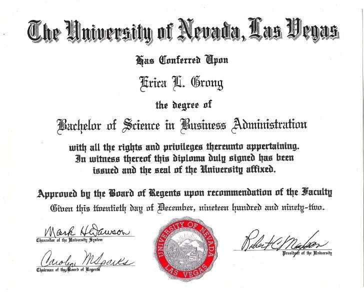 Bachelor Of Science Business Administration