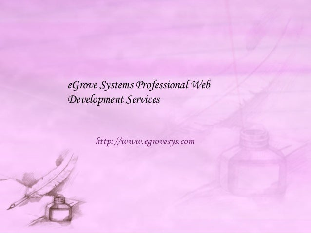 eGrove Systems Professional Web Development Services http://www.egrovesys.com