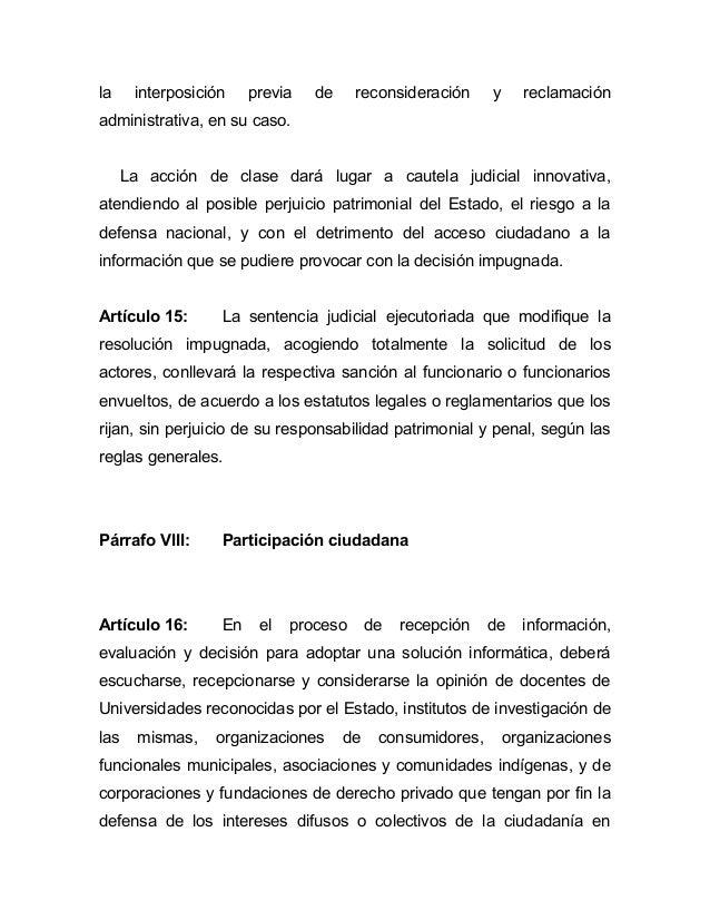 la     interposición    previa   de     reconsideración     y     reclamaciónadministrativa, en su caso.      La acción de...