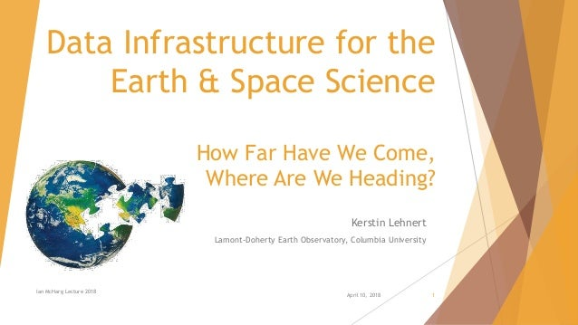 Data Infrastructure for the Earth & Space Science How Far Have We Come, Where Are We Heading? Kerstin Lehnert Lamont-Doher...