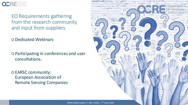 Online Surveys – question Polls OCRE H2020 project | EGU 2020| | 7th April 2020