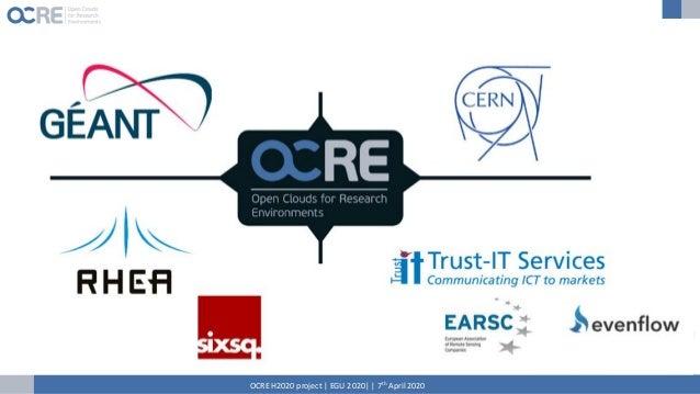 OCRE H2020 project | EGU 2020| | 7th April 2020
