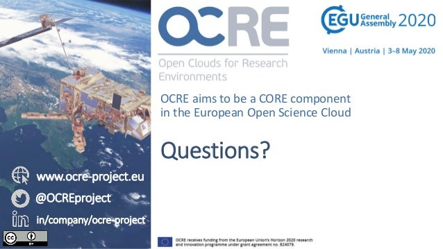 EGU 2020 - OCRE: the game-changer of Cloud and EO commercial services usage by the European research community