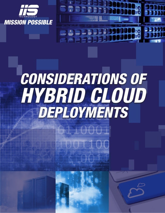 CONSIDERATIONS OF HYBRID CLOUD DEPLOYMENTS