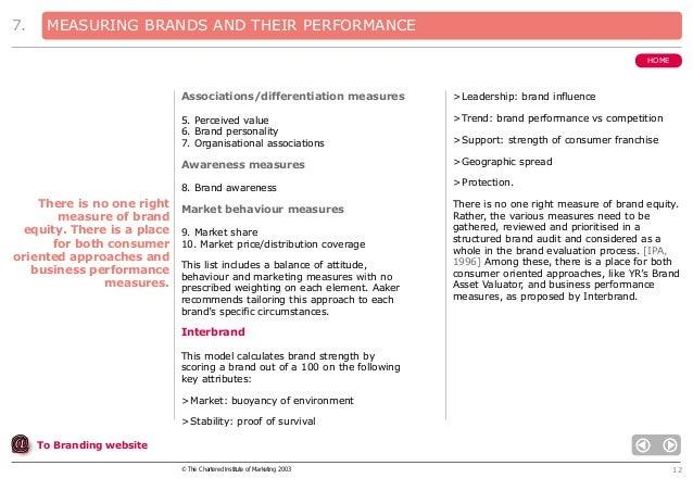 Measuring brand performance adidias