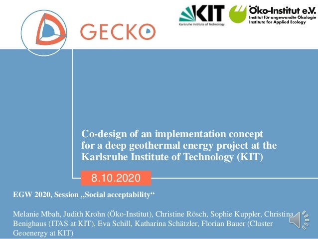 01 Co-design of an implementation concept for a deep geothermal energy project at the Karlsruhe Institute of Technology (K...