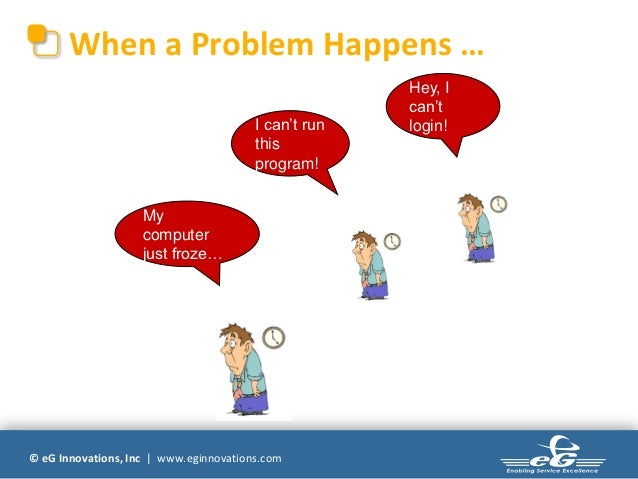 When a Problem Happens …                                                      Hey, I                                      ...