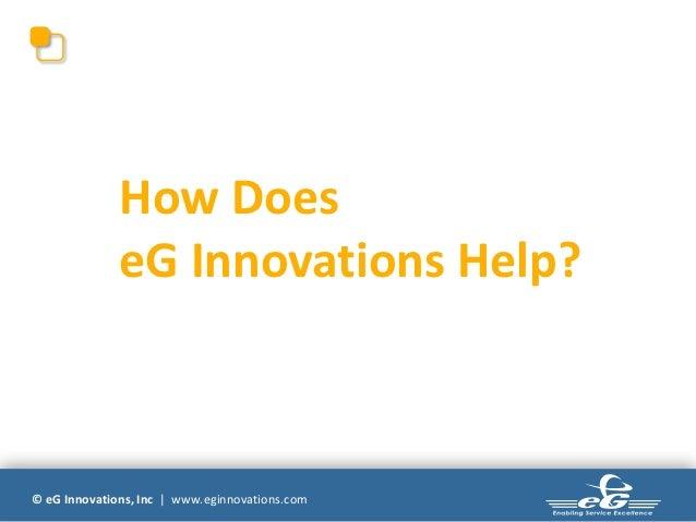 How Does              eG Innovations Help?© eG Innovations, Inc | www.eginnovations.com
