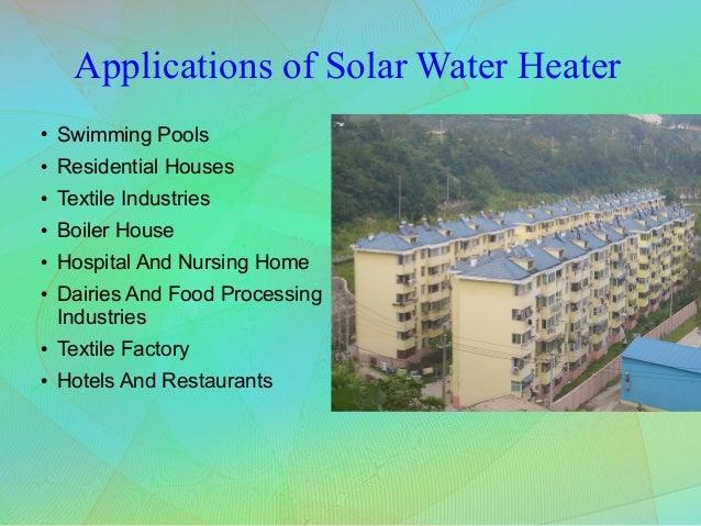 Working Principle Of Solar Water Heater