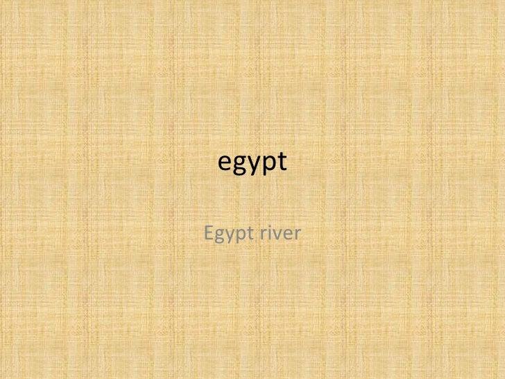 egypt Egypt river