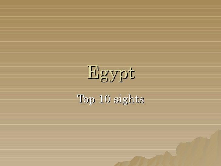 Egypt Top 10 sights