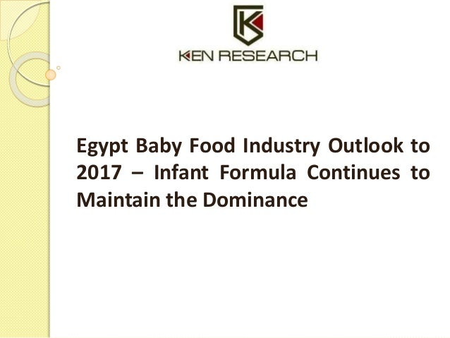 Egypt Baby Food Industry Research Report