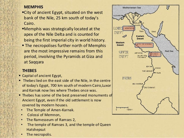 Egyptian Civiliazation - Map of egypt with cities and towns