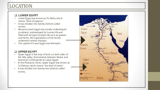 Egyptjpgcb - Map of egypt upper and lower