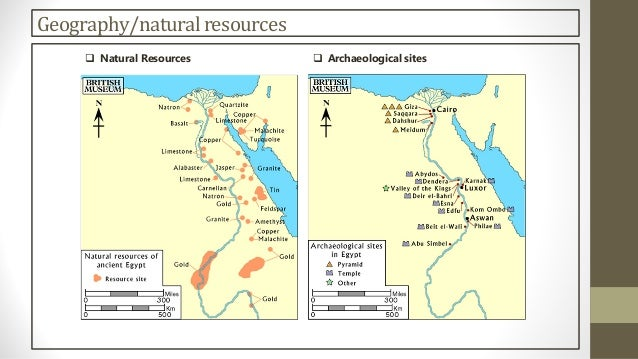 Egypt - Map of egypt's natural resources