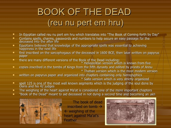 book of dead in english