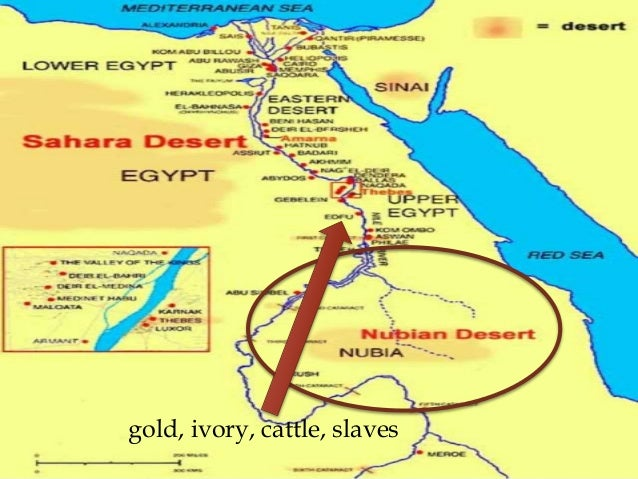 Ancient Egypt - Map of egypt nubian desert