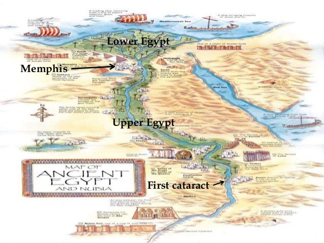 Ancient Egypt - Map of ancient egypt first cataract