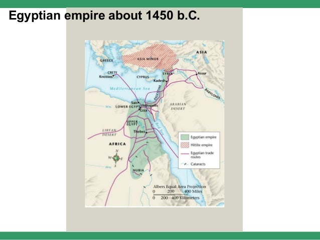 Egyptian empire about 1450 b.C.