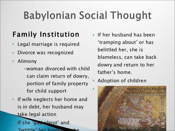 Marriage Is An Ancient Institution That Even Predates: Egyptian & Babylonian Social Thought