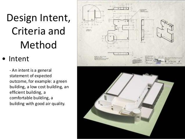 design intent  criteria and method u2022