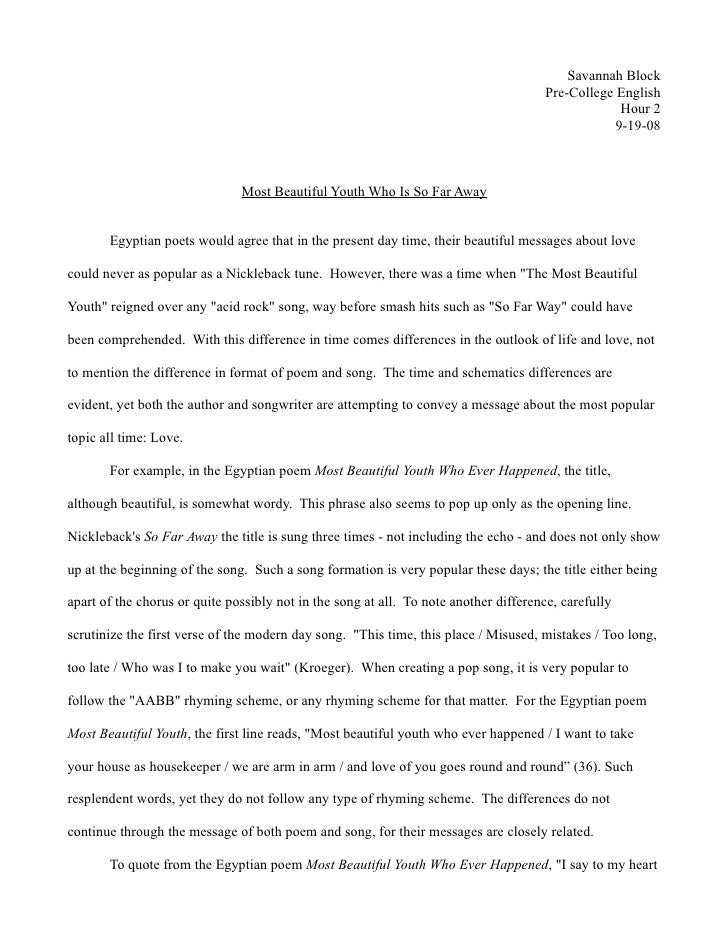 Savannah Block                                                                                       Pre-College English  ...