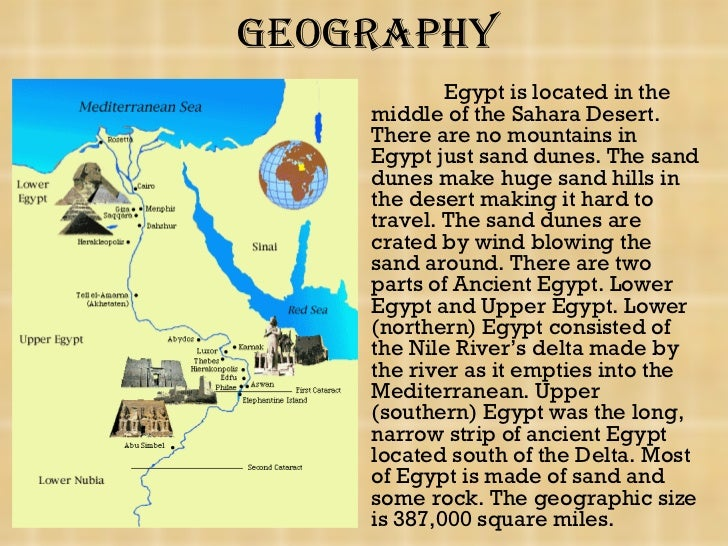 short paragraph about egypt