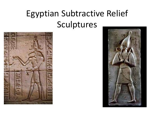 Egyptian Subtractive Relief        Sculptures