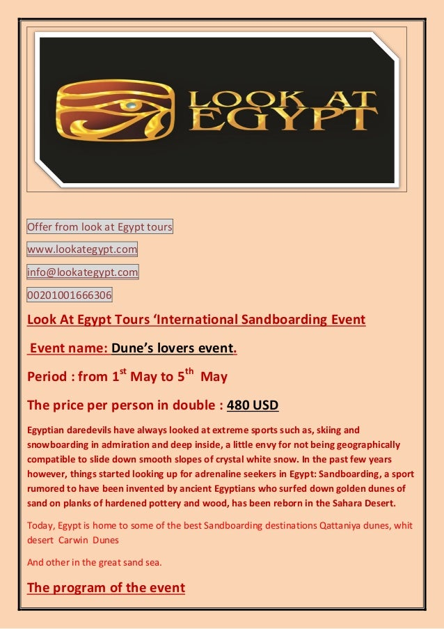 Offer from look at Egypt tours www.lookategypt.com info@lookategypt.com 00201001666306  Look At Egypt Tours 'International...