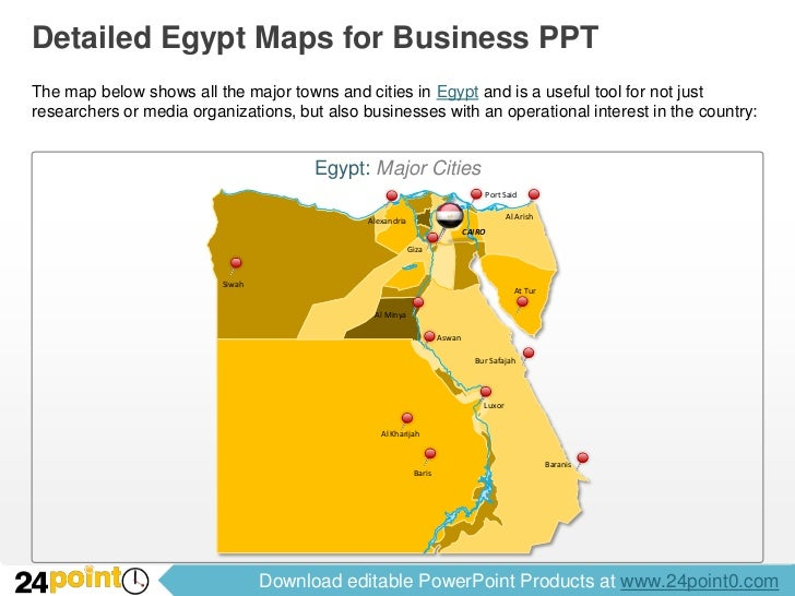 Editable Egypt Maps For PowerPoint - Map of just egypt