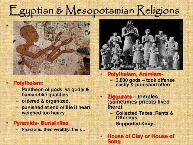 Compare Egypt & Mesopotamia ( Venn Diagram)