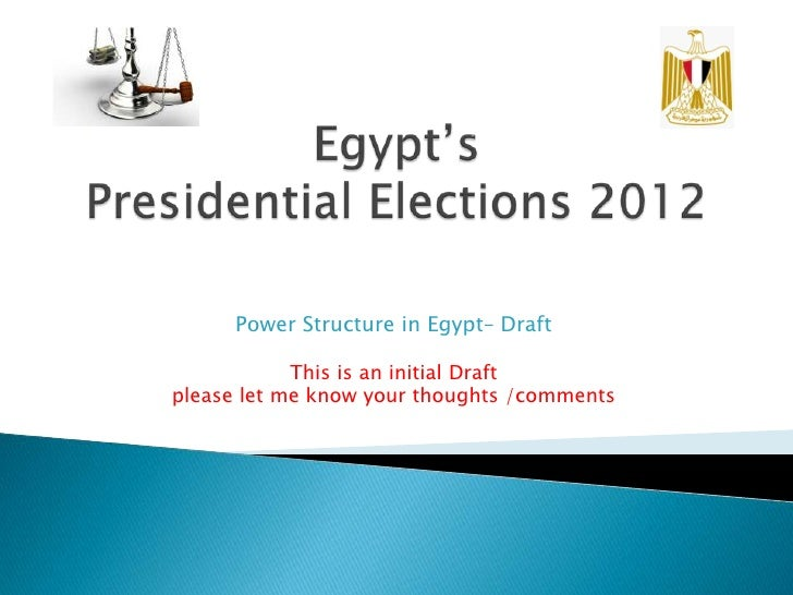 Power Structure in Egypt– Draft            This is an initial Draftplease let me know your thoughts /comments